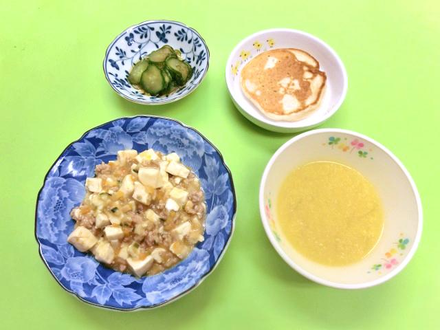 麻婆豆腐の展開:幼児食